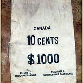 Canadian Money Bag -- Dimes ( for Walksoftly ) - World Coins