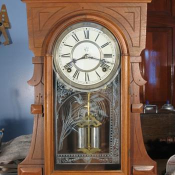 Waterbury Walnut Cased Shelf Clock, 1880s