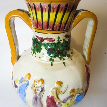 Weird Foot Bathing French Majolica? What in the? Renaissance revival? - Pottery