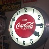 1958 Coca-Cola 22 inch double bubble clock
