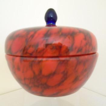 Czech Art Deco Lidded Bowl