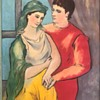 """Picasso """"The Lovers"""" Mardi 52"""