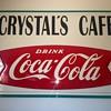 Large Coca Cola fishtail sign