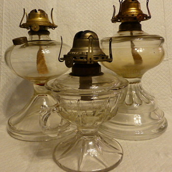 Giant, Duncan & Miller and  Scovill oil lamps - Lamps