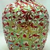 Durand Red & White Moorish Crackle Vase c.1925