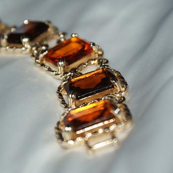 Sarah Cov Canada Vintage Bracelet 1970's - Costume Jewelry