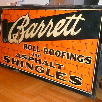 Barrett Roll Roofings ans Asphalt Shingles Sign - Signs