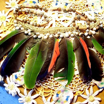 One Enchanting Evening, You May Meet A Stranger--wearing this!  Vintage exotic. and tropical art jewelry.