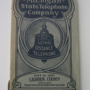 1907 Battle Creek Michigan Phone Book with Kellogg's Number