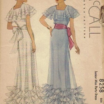 1930s Vintage Sewing Patterns - Sewing
