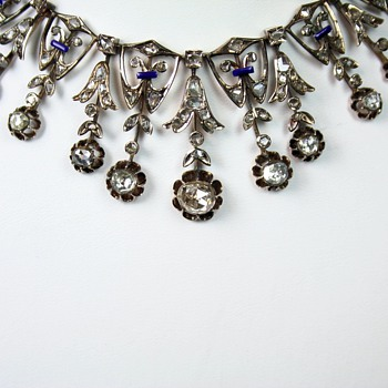 New pictures of antique diamond, enamel, gold necklace - Fine Jewelry