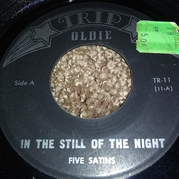 The Five Satins...On 45 RPM Vinyl - Records