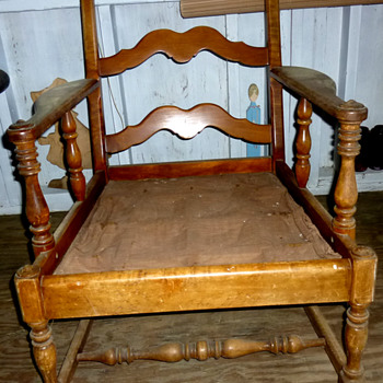 Ladder Back Arm Chair #2 - Furniture