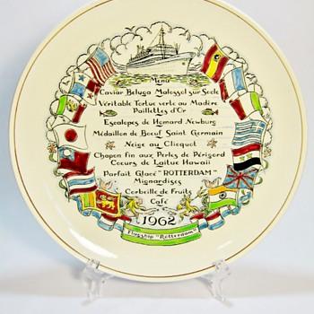 HOLLAND AMERICA LINE 1962 - GOUDA  - Pottery