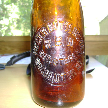 Rieger Bottling Wks beer (?) bottle Binghamton, NY