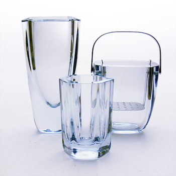2 Strömbergshyttan vases and an ice-bucket - Art Glass
