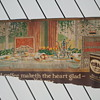 Pre-1920's Yuban Coffee Cardboard Trolley Car Advertisement Sign