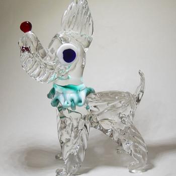 Murano Glass Scottie Dog (Clear Glass) -  # 1 - Animals