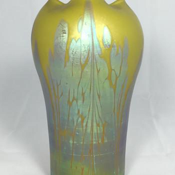 "Loetz ""Metallic-Yellow Medici"" Vase - Circa 1902. 6.75"" tall PN unknown - Art Glass"