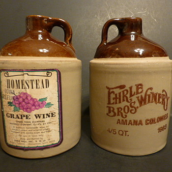 USA marked stoneware wine jugs - China and Dinnerware