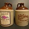 USA marked stoneware wine jugs