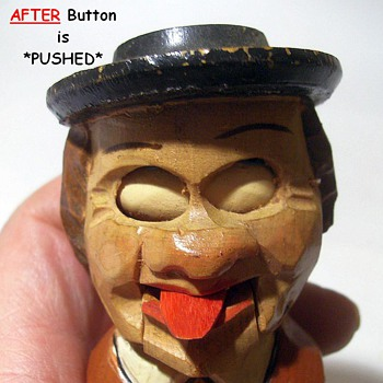 Wood Hand Carved -- Liquor Bottle Stopper