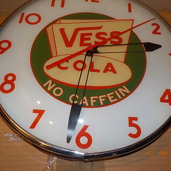 1950's Vess Cola Clock made by Pam Clocks - Advertising