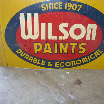 double sided wilson paint sign - Signs