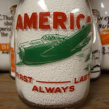 DUNKEL BROS. DAIRY...MT. CARMEL ILLINOIS...WAR SLOGAN MILK BOTTLE - Bottles