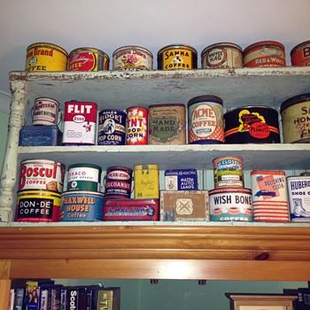 My tin collectin - Advertising