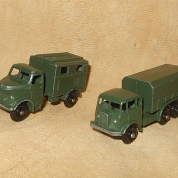 Multiple Mighty Military Matchbox Monday MB-62 General Service Lorry and MB-68 Austin Mk2 Radio Truck - Model Cars