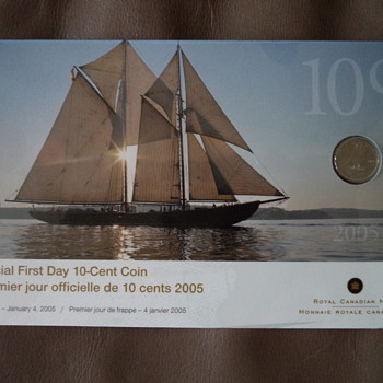 Official First Day 10 Cent Canadian Coin (2005)  - World Coins