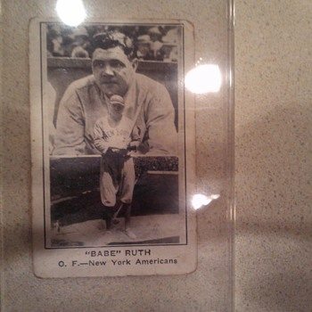 Babe Ruth Baseball Card - Baseball