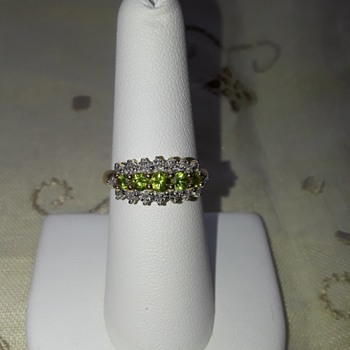 Demantoid Garnets set in 14Kt Yellow Gold, with Diamonds - Fine Jewelry