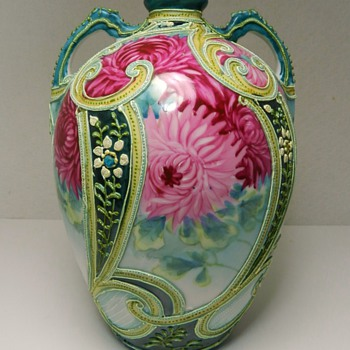 My Beautiful Japanese Nippon Moriage Vase  - Asian
