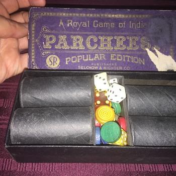 Antique Parcheesi game