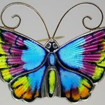 David Andersen Enamel Butterfly Pin - Fine Jewelry