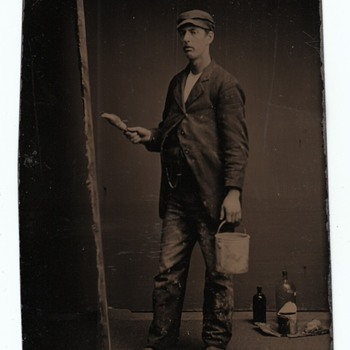 Occupational Tintypes Painters Art  Collection Jim Linderman The Painted Backdrop - Photographs