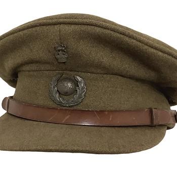 Vintage British Royal Marines Officer's service visor cap. - Military and Wartime