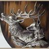 My vintage DEER Head Picture Plaque - Metal