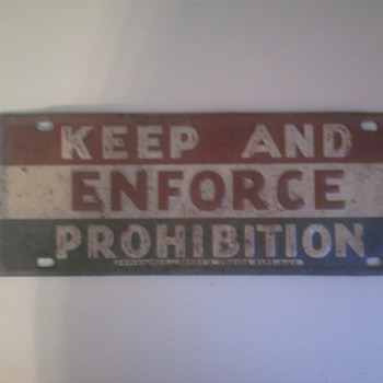 Prohibition Lisence Plate? - Signs