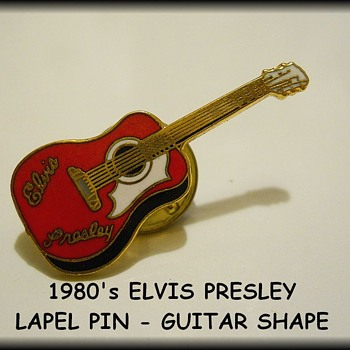 1980's Vintage LAPEL PINS ( Guitar Shape )