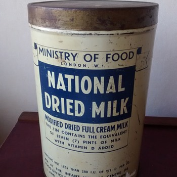1940s National Dried Milk tin  - Advertising
