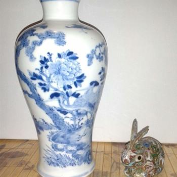 Antique Chinese  Porcelain Blue & White Vase - Asian