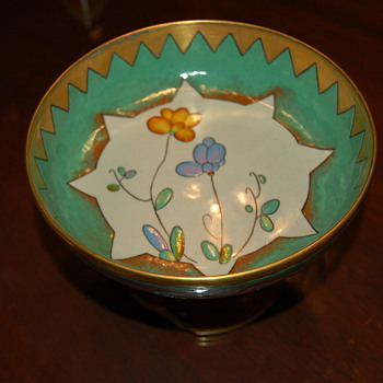 French? Footed compote  - Pottery
