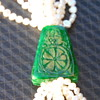 Vintage Chinese/Japanese Jade Real Seed Pearls Necklace