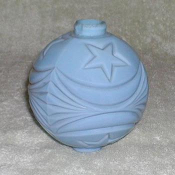 Blue Milk Glass Lightning Rod Ball - Glassware