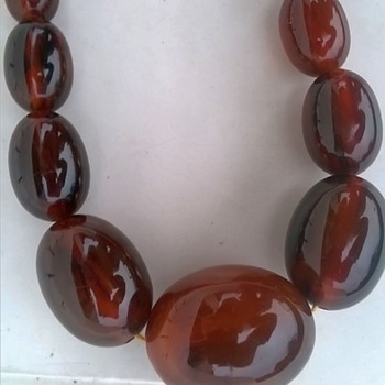 Bakelite (?) Necklace, Internet Buy - Costume Jewelry