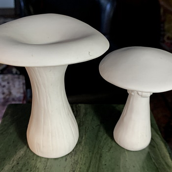 White Porcelain Mushrooms - Figurines