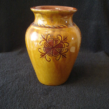 Decorated Collectible Vase/Mystery - Pottery